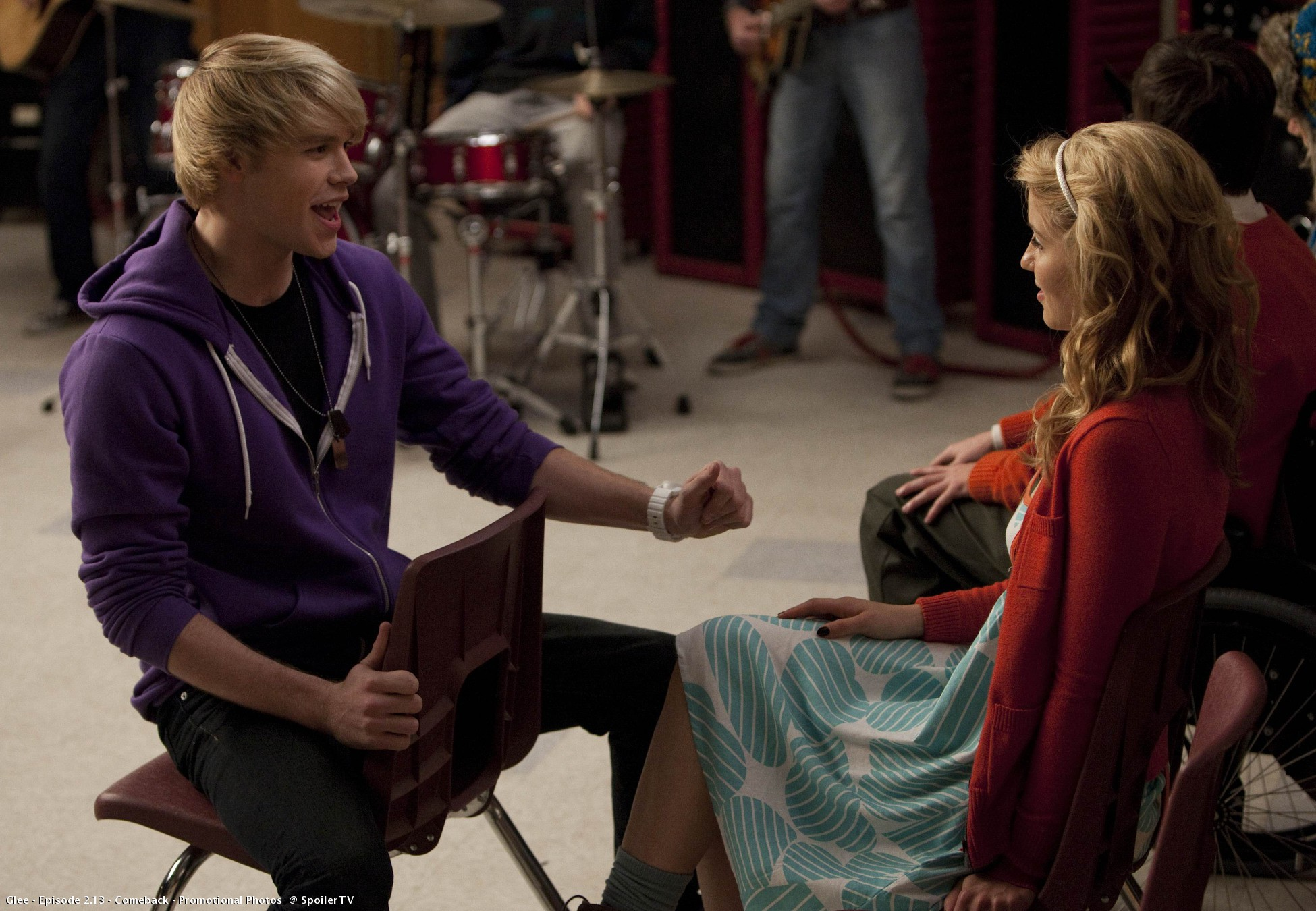 "Sam and Quinn, ""Comeback"" 2.13 Glee"