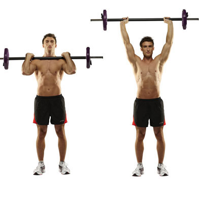 Shoulder Press Technique, Photo: © Copyright 2011 Men's Health UK