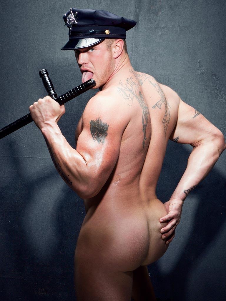 Nude male police-9359