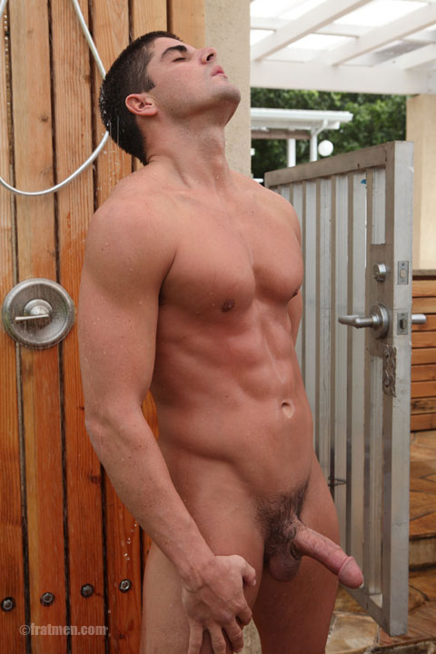 Outdoor Gay Shower Sex