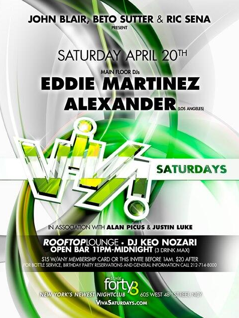 Viva Saturdays at Stage Forty 8