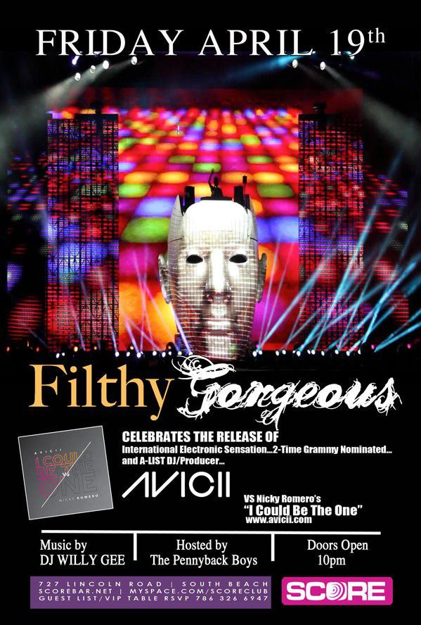 Avicii, Filthy Gorgeous, Score SOBE