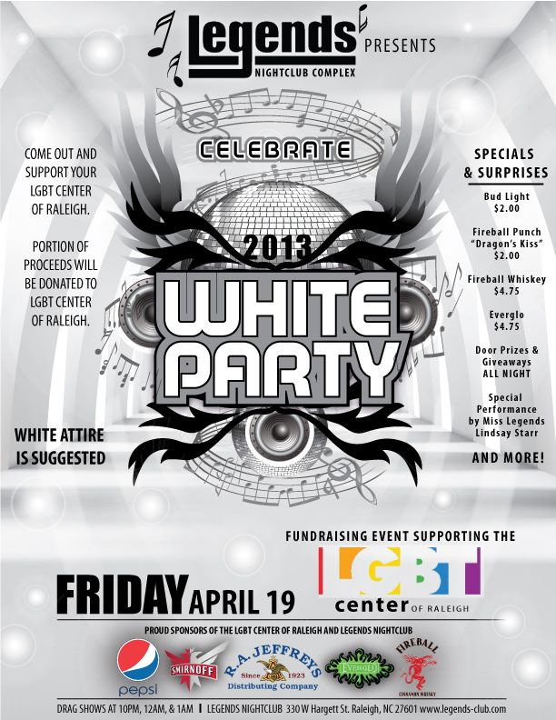 White Party, Legends, Raleigh NC