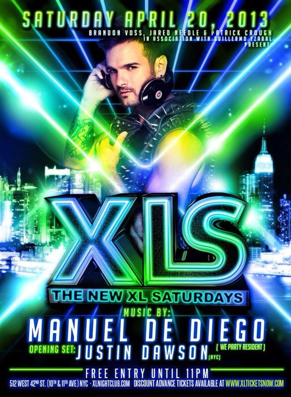 XL Nightclub, Manuel De Diego, April 20