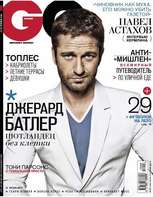 Gerard Butler | Ph: Danil Golovkin, GQ Russia