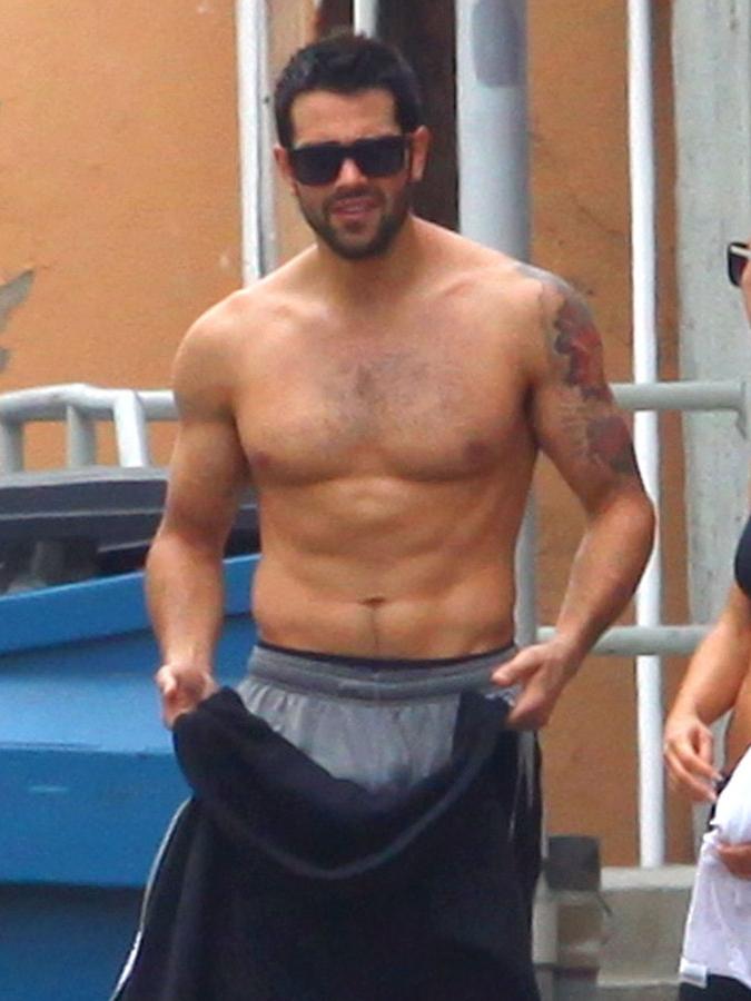 Jesse Metcalfe shirtless in Los Angeles, June 2013