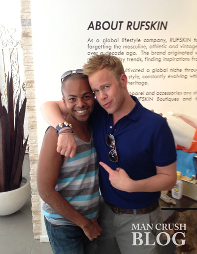 Me with photographer Andrew Werner at the Rufskin Pride Party.