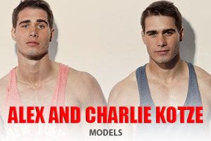 Man Crush of the Day: Models Alex and Charlie Kotze